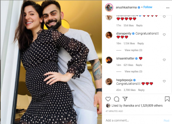 Virat Kohli and Anushka Sharma expecting their first baby in January 2021