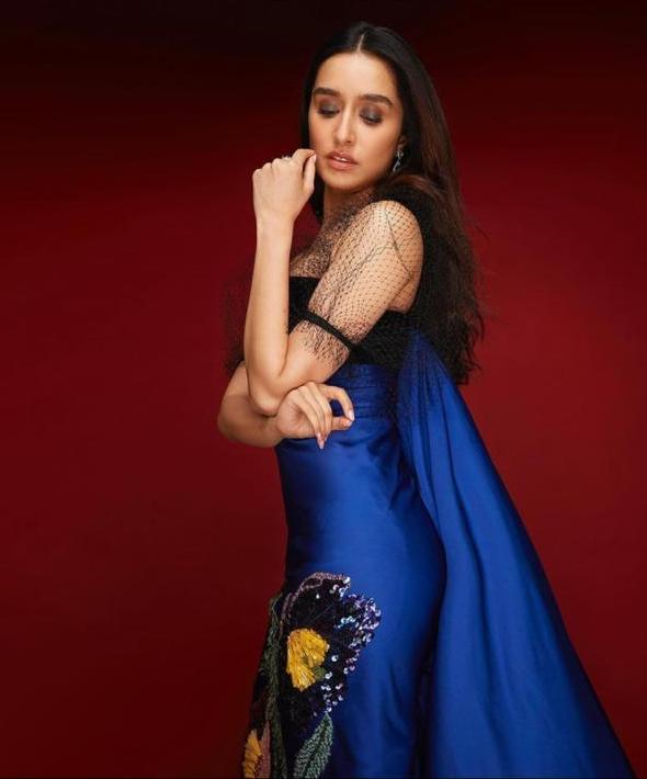 Image result for Shraddha Kapoor looks Gorgeous in this Gauri & Nainika outfit