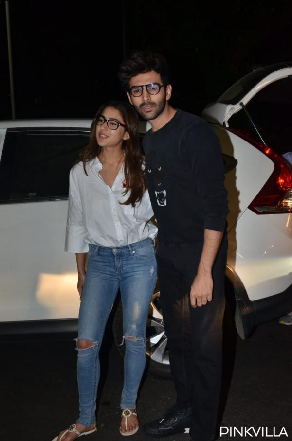 whatsapp_image_2020-02-04_at_10.02.46_pm PHOTOS: Love Aaj Kal actors Sara Ali Khan & Kartik Aaryan twin in nerdy appears to be like as they arrive on the airport