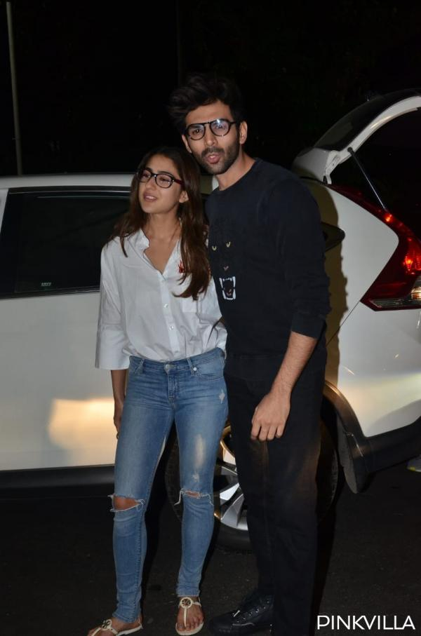 whatsapp_image_2020-02-04_at_10.02.47_pm PHOTOS: Love Aaj Kal actors Sara Ali Khan & Kartik Aaryan twin in nerdy appears to be like as they arrive on the airport
