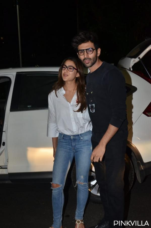 whatsapp_image_2020-02-04_at_10.02.48_pm PHOTOS: Love Aaj Kal actors Sara Ali Khan & Kartik Aaryan twin in nerdy appears to be like as they arrive on the airport