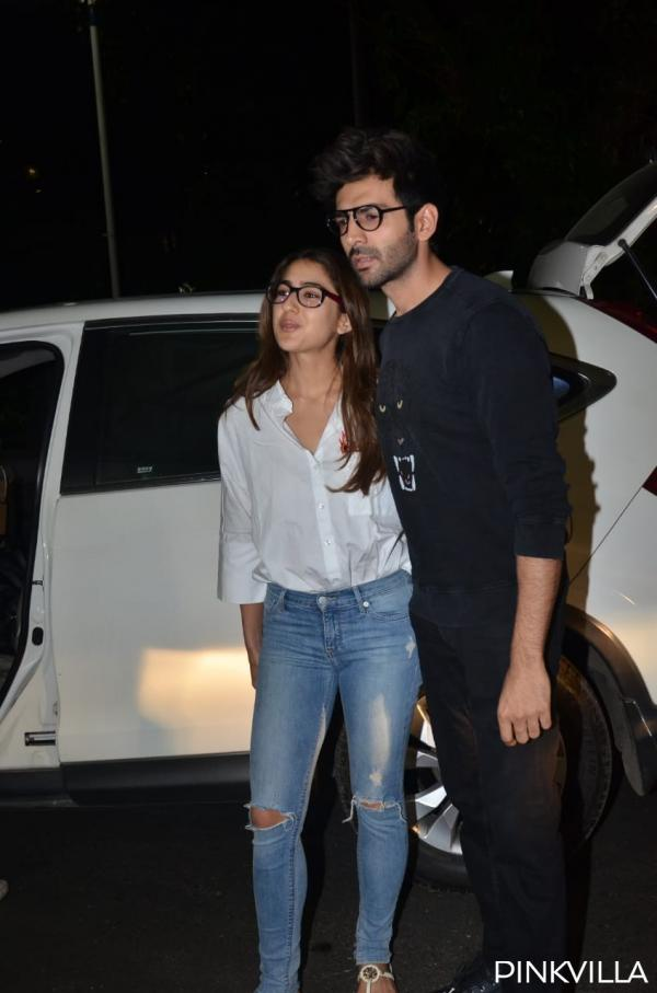 whatsapp_image_2020-02-04_at_10.02.49_pm PHOTOS: Love Aaj Kal actors Sara Ali Khan & Kartik Aaryan twin in nerdy appears to be like as they arrive on the airport