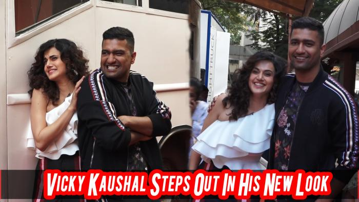 Vicky Kaushal Sports New Look With Taapsee Pannu For Vogue's Talk Show