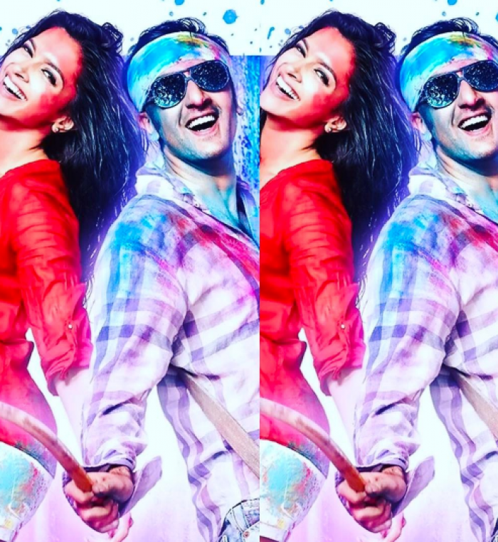 892fa323eec6b Deepika wishes everyone a happy Holi with this cute pic of herself and  Ranbir