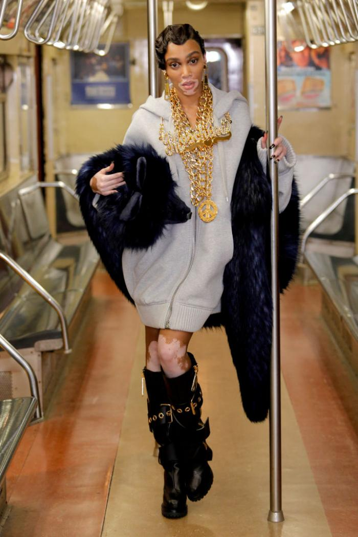 Moschino holds its Pre Fall 2020 fashion show on NYC subway & shows exactly how to make street style look chic
