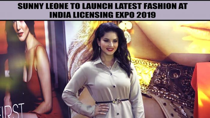 Sunny Leone glams up with her new beauty line at India Licensing Expo