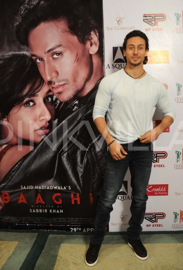 Spotted Tiger Shroff Promotes Baaghi At An Event Pinkvilla