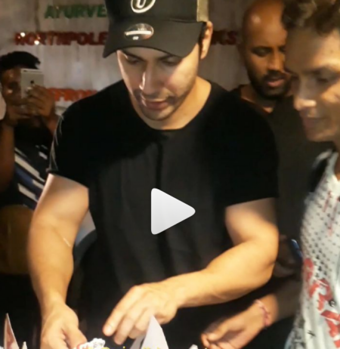 WATCH: Varun Dhawan's gesture for a fan as he cuts a cake to celebrate his birthday proves why he is Hero No 1