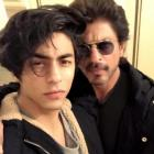 Shah Rukh Khan and Aryan Khan selfie.