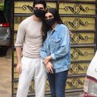 Sushmita Sen in denims with Rohman Shawl in the city