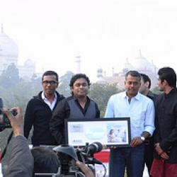 AR Rahman, Prateik & Amy at the music release of
