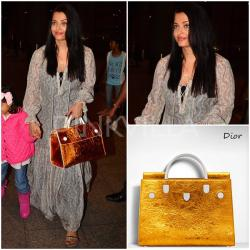 Airport Style : Aishwarya Rai Bachchan in Patine and Dior