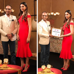 Deepika Padukone looks red hot as she accepts her Priceless Princess award