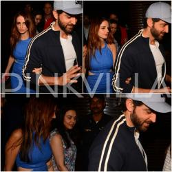 Hrithik-Sussanne walk out hand-in-hand, BFF Preity joins them on a dinner outing!