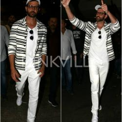 Hrithik Roshan goes monochrome, makes a style statement at the airport