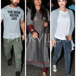 John, Vidya and Sunny Glam Up The Airport!