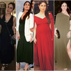 Kareena Kapoor Khan shows us how to dress for those fancy holiday parties while you're pregnant!