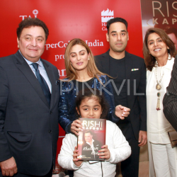 Rishi Kapoor launches his biography with wife Neetu, daughter Riddhima and SIL Bharat