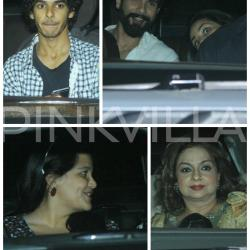 Shahid and Mira catch a screening of Rangoon with their family!