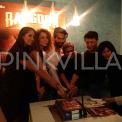 EXCLUSIVE: Shahid, Kangana and Mira celebrate the release of Rangoon with the team!