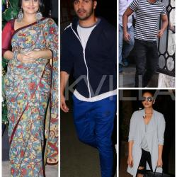 Snapped: Vidya, Varun, Sushant and Huma have a busy day in the city!