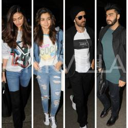 Busy bees Alia, Arjun, Hrithik and Athiya shuffle through the airport!