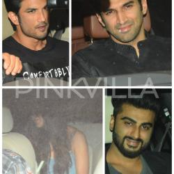 In pics: Katrina, Aditya, Sushant & Arjun head to Karan Johar's starry bash!