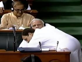 Rahul Gandhi hugs Narendra Modi and gives us all the MEME of the year