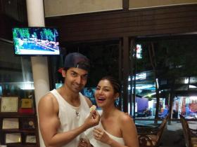 Debina Bonnerjee cuts her birthday cake with husband Gurmeet Choudhary