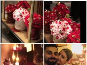 INSIDE Anushka Sharma\'s birthday celebrations with Virat Kohli: Pink flowers and candles