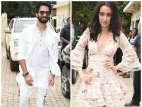 Batti Gul Meter Chalu: Shahid Kapoor and Shraddha Kapoor ace their style game for the trailer launch