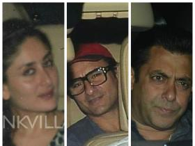 Kareena, Saif and Salman catch a screening of Bajrangi Bhaijaan