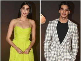 Janhvi Kapoor and Ishaan Khatter make a stylish appearance at the bash