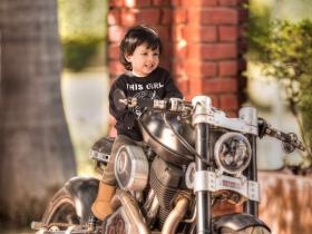 Like Father, Like Daughter: Meet the new biker baby in town, Ziva Dhoni!
