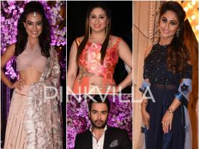 Surbhi, Vahbiz, Vivian, Krystle and other Telly friends have a gala time at Kishwer-Suyyash\'s wedding reception!