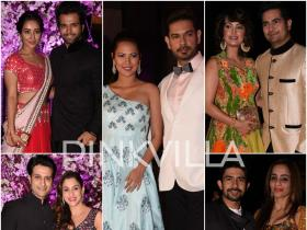Keith-Rochelle, Karan-Nisha, Raqesh- Riddhi, Asha- Rithvik & others attend Kishwer- Suyyash\'s wedding reception!