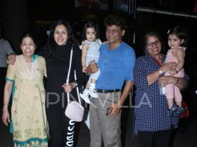 Karanvir Bohra\'s twins Bella and Vienna along with their mom Teejay Sidhu head back to the city