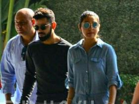 Virat Kohli and Anushka Sharma take a walk on the busy streets of Nottingham in this video
