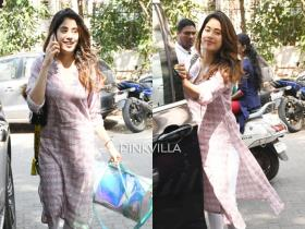 PHOTOS: Janhvi Kapoor stuns in ethnic wear as she heads to the gym; Check it out