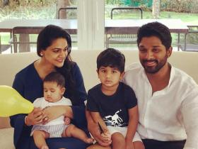 Allu Arjun & Sneha Reddy\'s cute moments with their kids Ayaan and Arha will melt your heart; Check it out