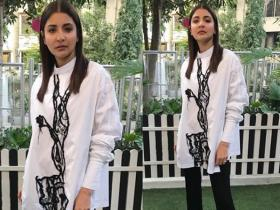Pari promotions: Anushka Sharma nails the monochrome look in this picture