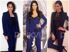 Fashion Spotlight : Bollywood\'s Blue Pant Suit Brigade