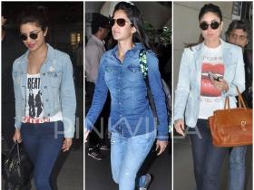 Trend Report : Bolly Ladies dress up in Double Denim