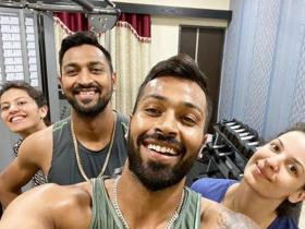 Hardik Pandya\'s fun filled PHOTOS during this quarantine is all about family, Have a look