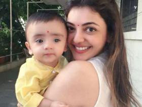 Kajal Aggrawal\'s photos with her nephew show she is one cool aunt; Check it out