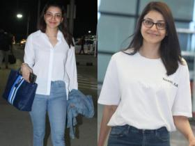 Kajal Aggarwal\'s no makeup airport looks are hard to miss; See PHOTOS