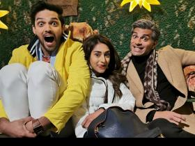 PHOTOS: Kasautii Zindagii Kay\'s Erica Fernandes, Parth & Karan Singh Grover chilling behind the scenes
