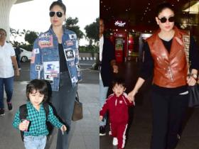 PHOTOS: Kareena Kapoor Khan, Taimur Ali Khan\'s airport looks prove they are the MOST stylish mother and son