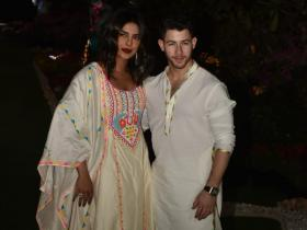 Priyanka Chopra and Nick Jonas shell out couple goals as they twin in white for pre Holi bash; See PHOTOS