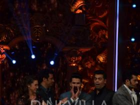 Shahid Kapoor, Karan Johar and Shamita Shetty clicked at Jhalak